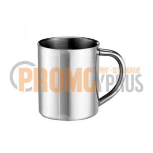 Double Wall Mug 11oz Silver Stainless Steel Prormocyprus Sublimation Gifts